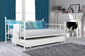 Metal Daybed Frame Amazon Com Dhp Manila Metal Daybed And Trundle Full Size Daybed