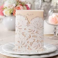 european style white wedding invitation card laser cut paper
