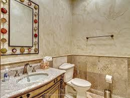 traditional powder room with undermount sink u0026 complex granite in