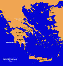 Greece On A Map Athens And Sparta Greek City States