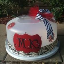 personalized cake plate judith s treats personalized cake carrier kitchen and bakeware