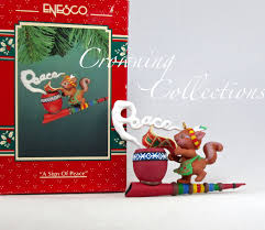 enesco a sign of peace pipe squirrel treasury of christmas