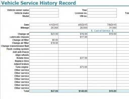 Vehicle Service Sheet Template by Vehicle Service History Record Template My Excel Templates