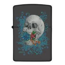 zippo design floral skull zippo lighter by rbka design zazzle