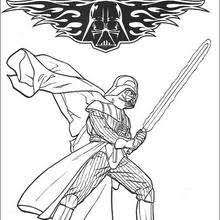 Fighting Darth Vader Coloring Pages Hellokids Com Darth Vader Coloring Pages