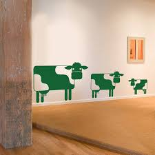 cow family wall sticker decal by snuggledust studios cow family wall sticker decal