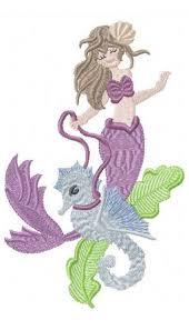 kingdom mermaids filled applique machine embroidery design
