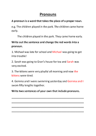 pronouns by lynreb teaching resources tes