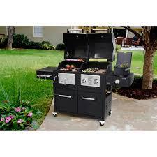 Brinkmann Backyard Kitchen Brinkmann Dual Lid Combo Gas Charcoal Walmart Com