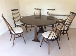 round table with 6 chairs ercol round dining table 6 chairs used in inverness highland