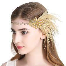 flapper headband vintage flapper headband 1920s deco gatsby feather headpiece