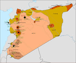 Syria War Map by About Syrian Civil War Map