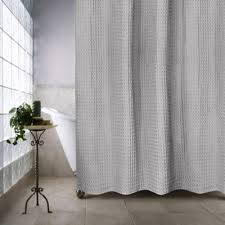 Silver Shower Curtains Buy Cotton Silver Shower Curtain From Bed Bath U0026 Beyond