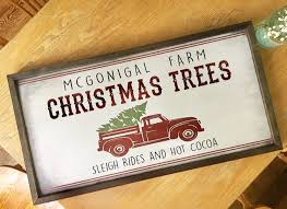 christmas tree farm rustic wooden sign