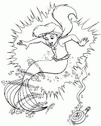 little mermaid coloring pages to print ariel flounder and