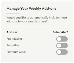 weekly fruit delivery how do i automatically add a smoothie or fruit basket to my weekly