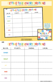 Responsibility Worksheet Teach Kids About Emotional Intelligence Using Inside Out This