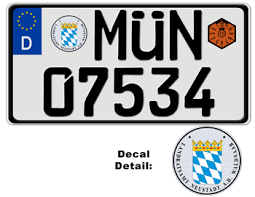 Custom Vanity Plate German License Plate Munich Usa Size Embossed With Your Custom