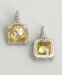 judith ripka earrings judith ripka earrings judith ripka canary large cushion