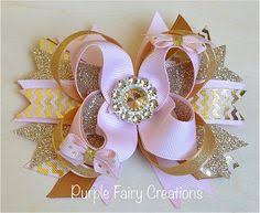 baby bow boutique pretty princess pink and white boutique hair bow princess hair