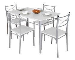 table de cuisine blanche table de cuisine blanche et 4 chaises blok lestendances fr