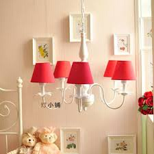 ls with red shades wrought iron semi flush ceiling light drum fabric shade