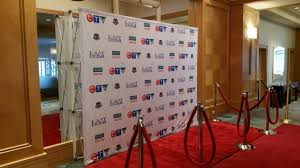 step and repeat backdrop pop up display for trade shows or step repeat backdrops