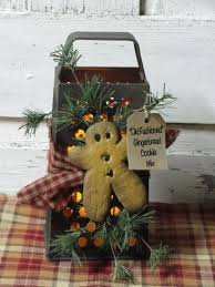 rustic grater with resin gingerbread and wispy pine timer candle