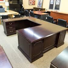 Used U Shaped Desk Used Paoli Traditional Left U Shaped Executive Office Desk