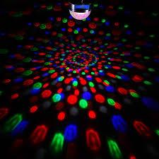 Halloween Music Light Show by Disco Ball Lights 9 Colors Rotating Led Dj Light Crystal Magic