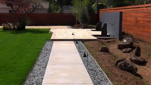 front landscaping along driveway with driveway landscape design