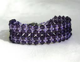 beading bracelet images Free pattern for beaded bracelet dark violet beads magic jpg