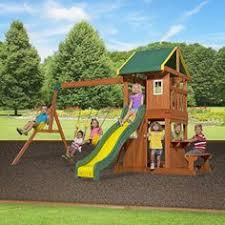 Flexible Flyer Backyard Swingin Fun Metal Swing Set Big Backyard Springfield Ii Wood Swing Set Wood Swing Sets Wood