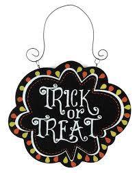 halloween trick or treat hanging wall and door signs halloween wikii
