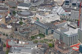 aerial photography of sheffield aerial photograph of the town hall