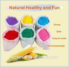 wholesale corn starch holi powder natural food coloring no