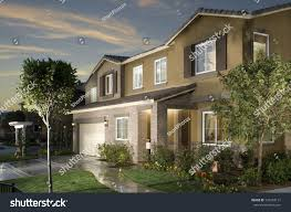 house exteriors new home house exterior architecture stock stock photo 135294131