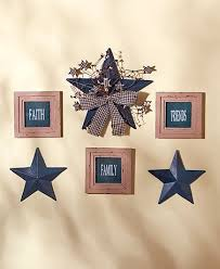 country star home decor the 6 pc sentiment and star wall decor is a delightful addition