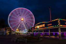 theme lighting free images light city ferris wheel amusement park landmark