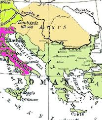 Byzantine Empire Map Historical Map Of The Balkans Around 582 612 Ad Showing The Avar