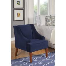 Blue Accent Arm Chair Wibiworks Com Page 4 Modern Bedroom With Navy Swoop Arm Velvet