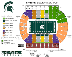 Michigan Campus Map by Gameday Maps Michigan State University