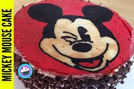 Cake Decorating Ideas At Home How To Make Mickey Mouse Birthday Cake With Simple Decoration At