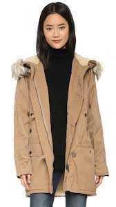 Free People Parka Free People Whistler Parka With Faux Fur Hood In Brown Lyst