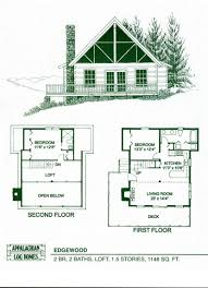 Vacation Cabin Plans Cabin Plans Log Floor With Loft 12x32 Plan And Covered Luxihome