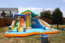 Backyard Blow Up Pools by Backyard Water Slide Party Outdoor Furniture Design And Ideas
