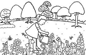 free coloring pages garden coloring