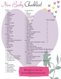 free baby needs printable check list baby checklist babies and
