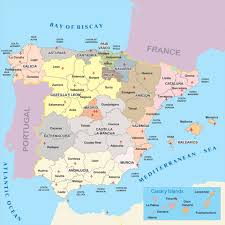 The Map Of Spain by Spain Provinces Map