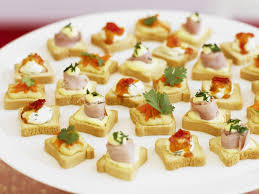 mini canape canapés with three toppings recipe food to